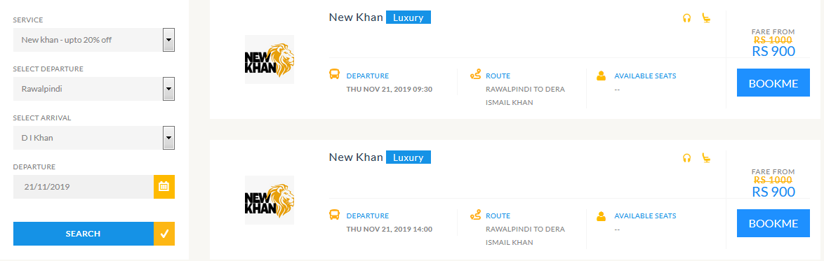 new khan online ticket booking