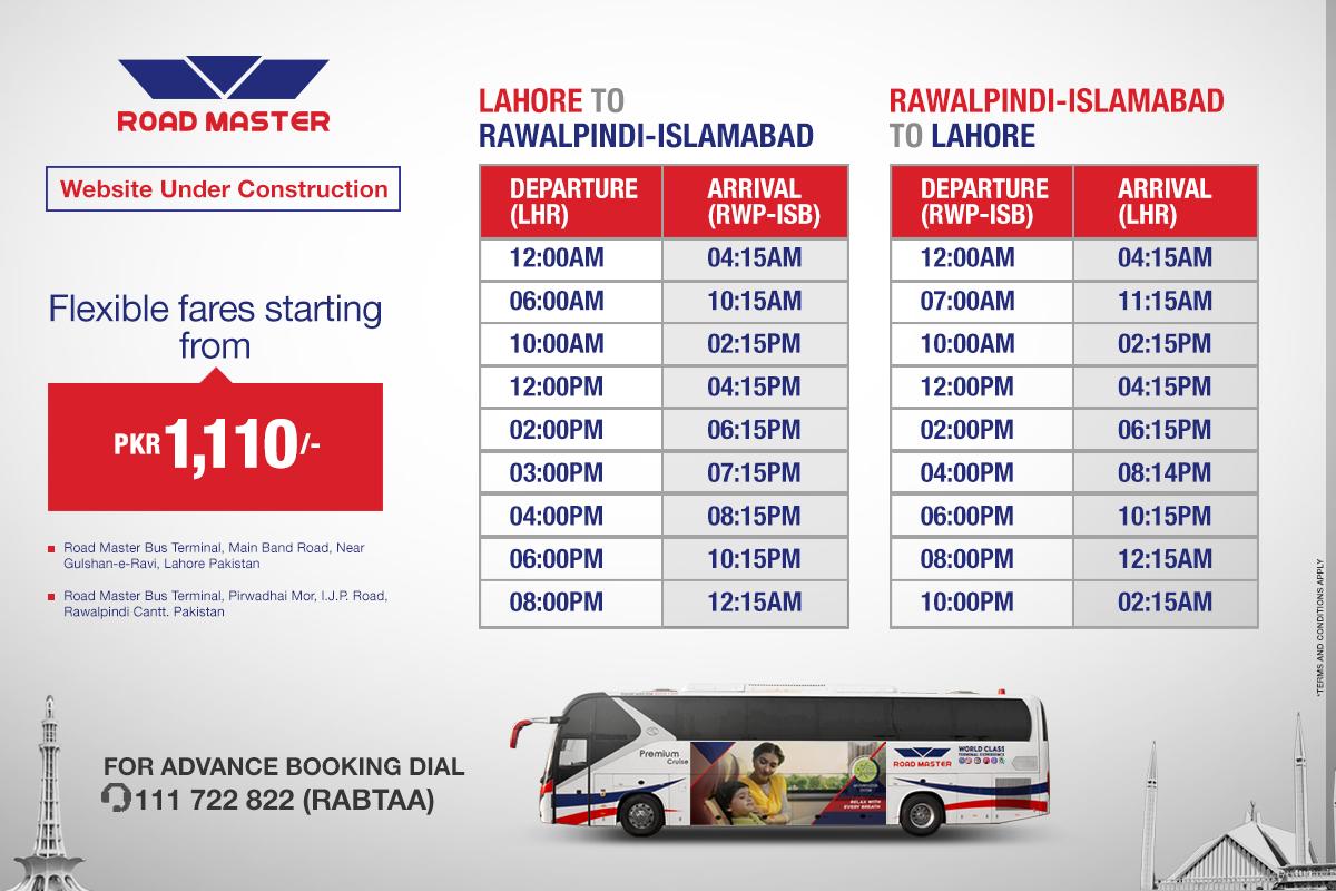 road master bus timings